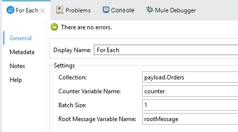 Split Single File to Multiple File using For Each